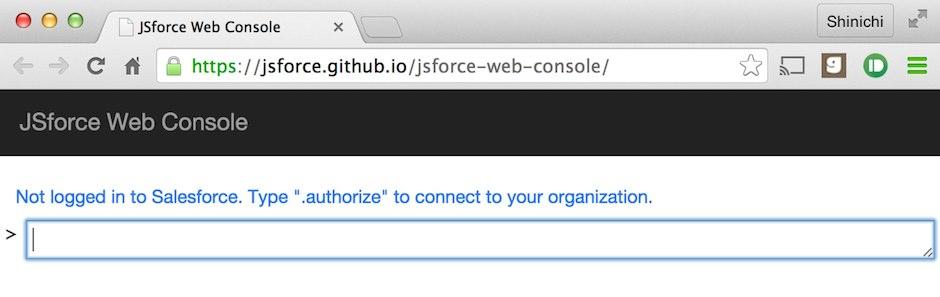 How to Use JSforce Web Console - JSforce